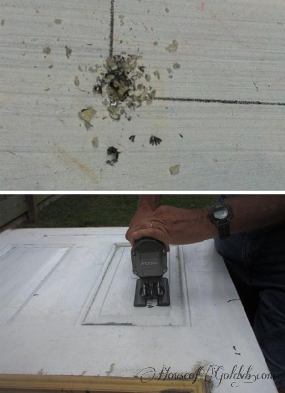 Cutting Door Hole_HouseofGold